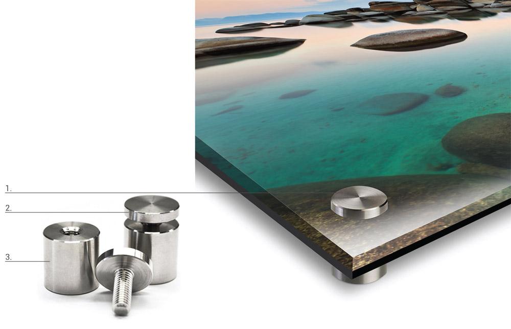 UV Acrylic Standoff Hardware